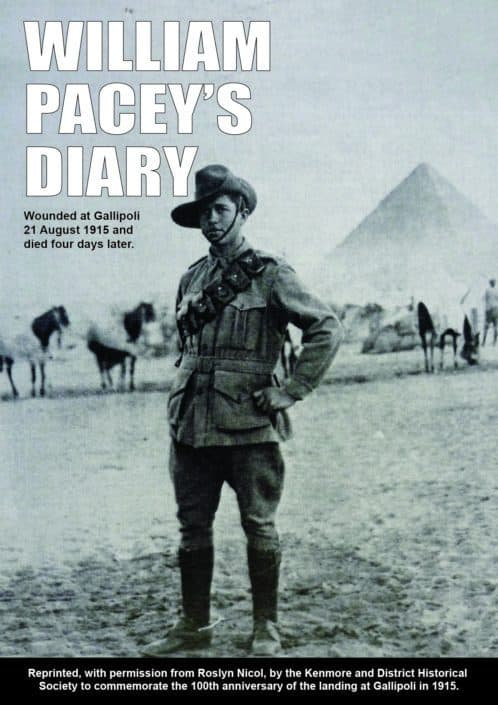 Cover design for William Pacey's Diary