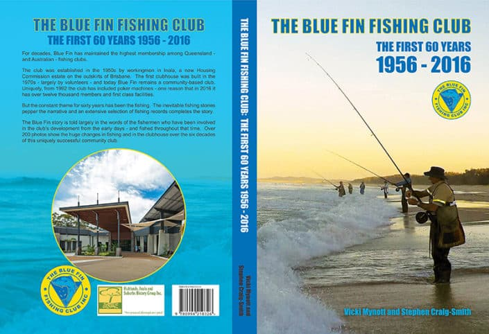 Book cover design for Blue Fin Fishing Club