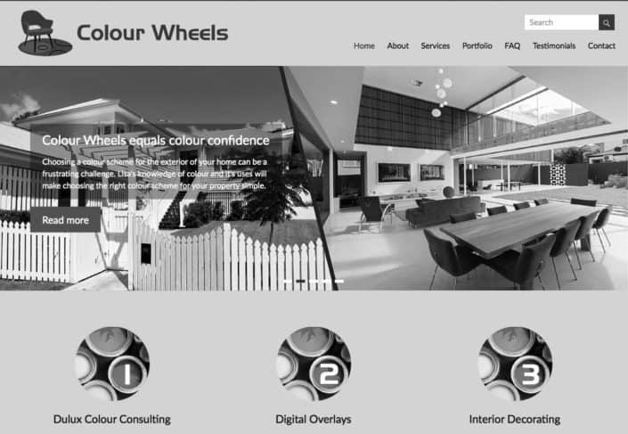 Colour Wheels website redesigned by Moonstone Creative