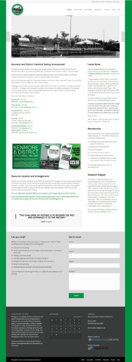 Kenmore Historical Society Website Design