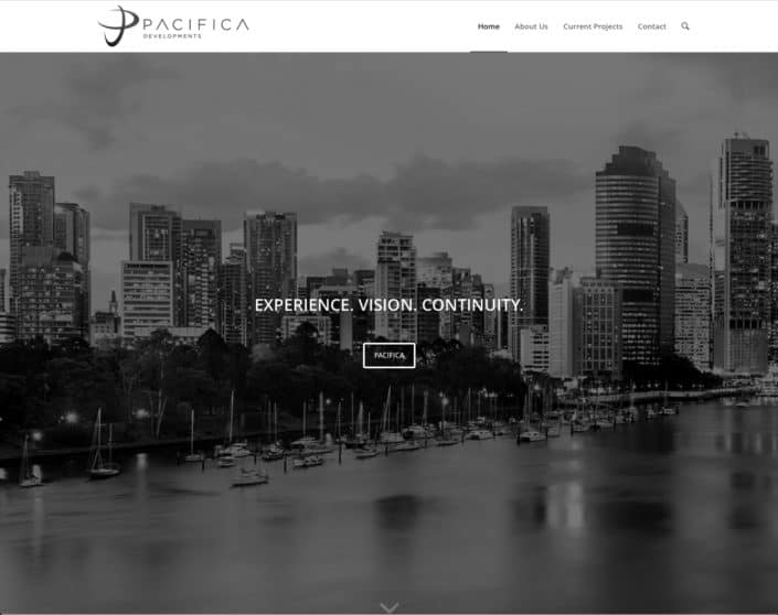 pacifica developments website design