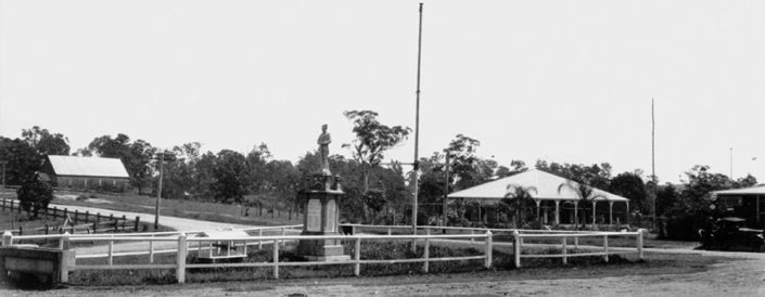 The war memorial in Kenmore in it's original location