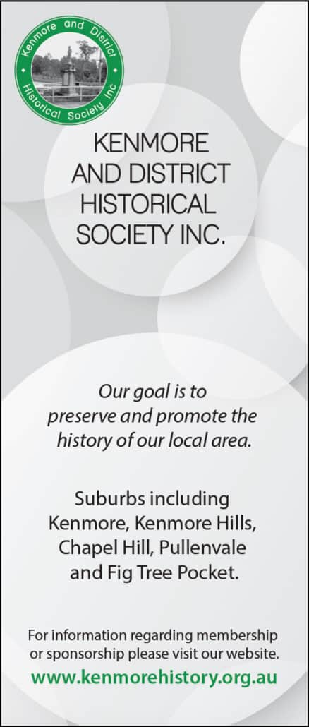 Banner design for kenmore & district historical society