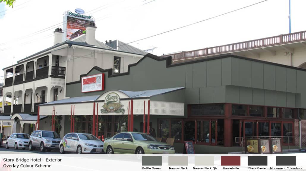 Story Bridge Hotel with colour overlay provided by Colour Wheels